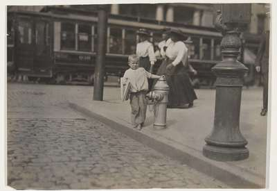 Image from object titled Newspaper Vendor