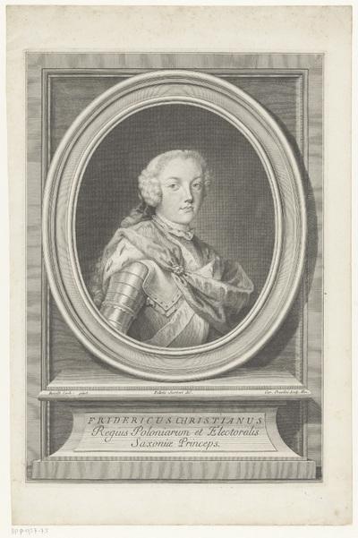 Portret van Frederik Christiaan, keurvorst van Saksen