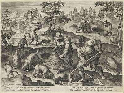 Stekelvarkenjacht; Jachtscènes