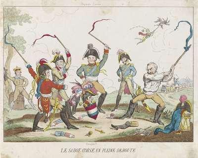 De Corsicaanse tol, 1814; Le sabot Corse en pleine deroute