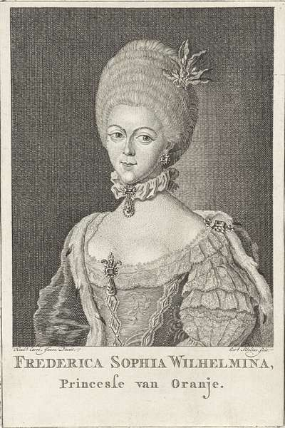Portret van Wilhelmina van Pruisen (1751-1820); Frederica Sophia Wilhelmina, princesse van oranje