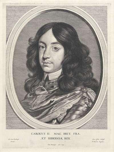 Portret van Karel II, koning van Engeland; Portretten van edelen