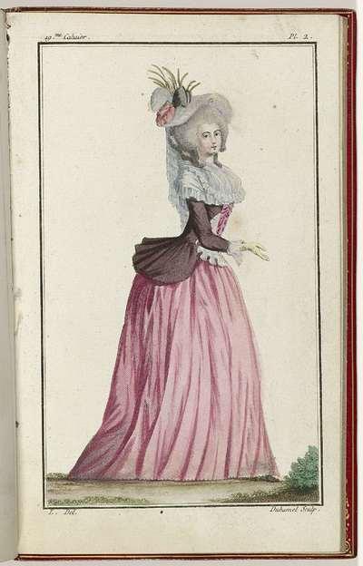 Cabinet des Modes ou les Modes Nouvelles, 15 Aout 1786, pl. 2