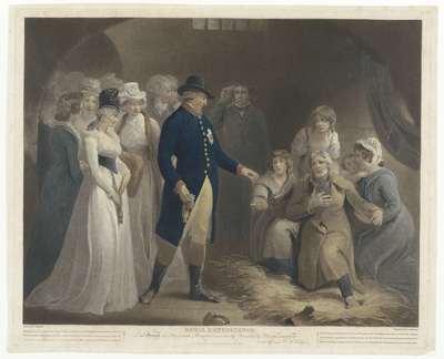 George III bezoekt met zijn familie de gevangenis te Dorchester; Royal Beneficence