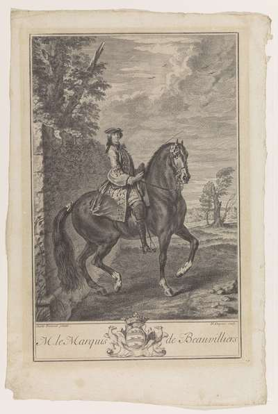 Image from object titled Ruiterportret van Monsieur le Marquis de Beauvilliers