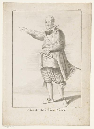 Portret van een onbekende man met zwaard; Ritratto del Tiranno Cavalca; Galerie Lucien Bonaparte