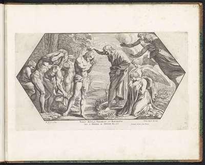 Doop van Christus; Schilderingen in de Loggia van Rafaël; Imagines Veteris ac Novi Testamenti; Rafaël Bijbel