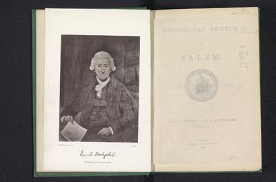 Fotoreproductie van een portret van Edward Augustus Holyoke door James Frothingham; E.A. Holyoke