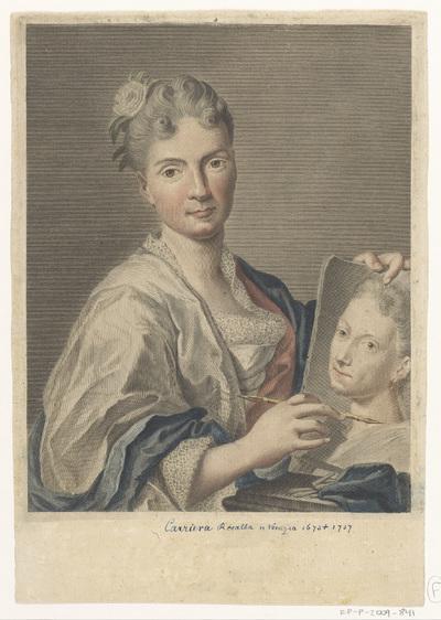 Portret van kunstenaar Rosalba Carriera; Portretten van kunstenaars