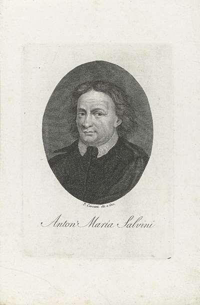 Portret van hellenist Anton Maria Salvini
