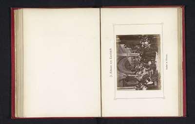 Fotoreproductie van een schilderij, voorstellende Maarten Luther verdedigt zijn stelling tijdens de Rijksdag van Worms; Luther in Worms