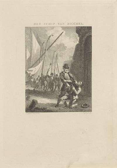 Man pakt een andere man een sleutelbos af; Het schip van Bommel