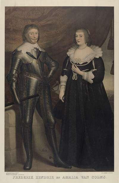 Portret van Frederik Hendrik, prins van Oranje, en Amalia van Solms; Historische portretten