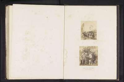 Twee fotoreproducties van een publicatie door de Arundel Society met een schilderij van Filippino Lippi