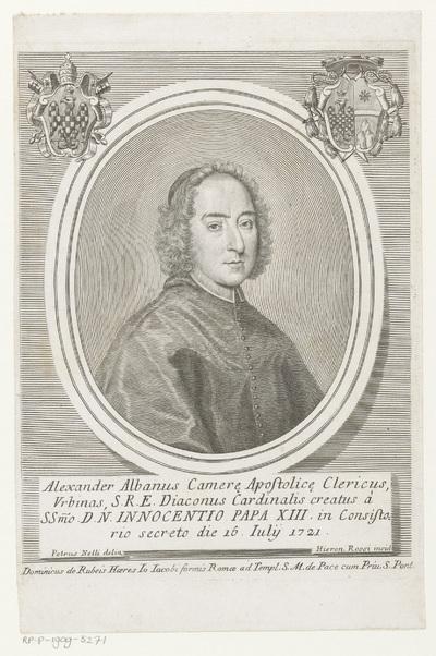 Portret van kardinaal Alessandro Albani