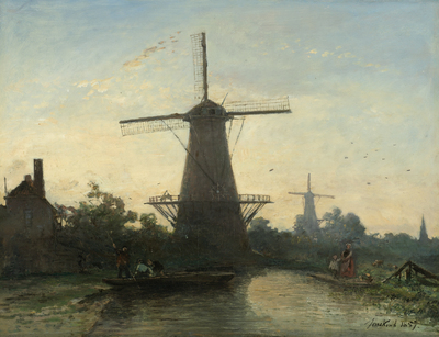 Image from object titled Windmills near Rotterdam