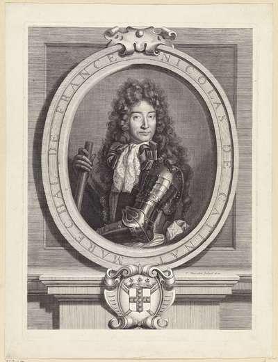 Portret van de Franse maarschalk Nicolas Catinat