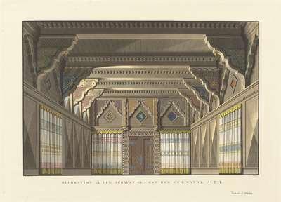Decor voor Ratibor und Wanda, een toneelstuk van K. von Levezow; Decorationen auf den beiden Königlichen Theatern in Berlin