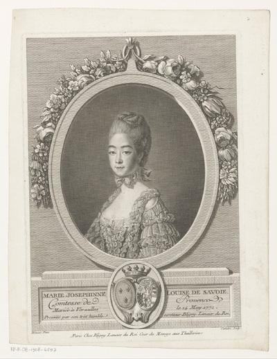 Portret van Marie Josephine van Savoye