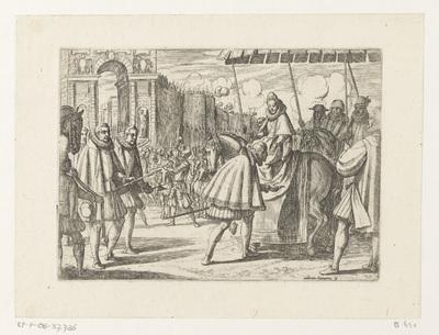 Triomfale intocht van Margaretha van Oostenrijk in Milaan; Het leven van Margaretha van Oostenrijk