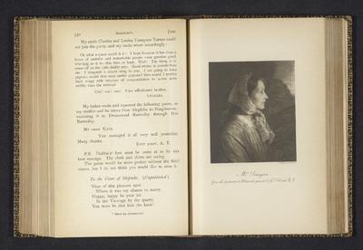 Fotoreproductie van een schilderij, voorstellende een portret van Emily Tennyson