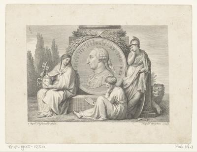 Medaillon met portret van Karel III, koning van Spanje