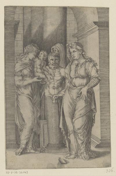 Presentatie van een kind aan Priapus