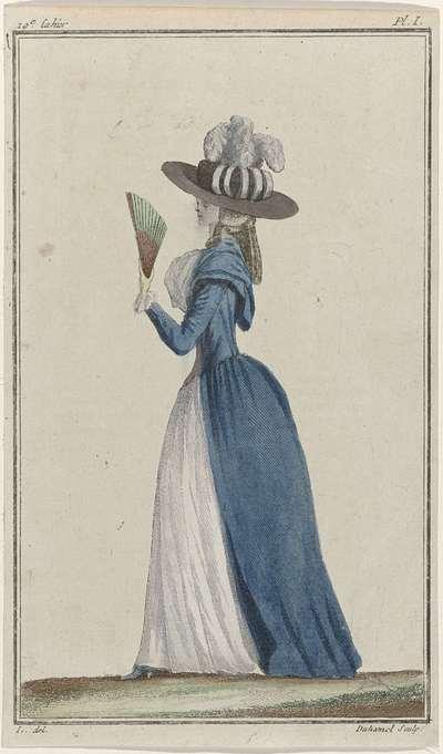 Cabinet des Modes ou les Modes Nouvelles, 15 août 1786, Pl. I
