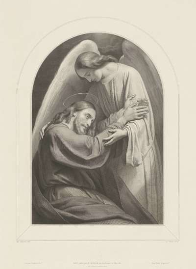Christus getroost door een engel