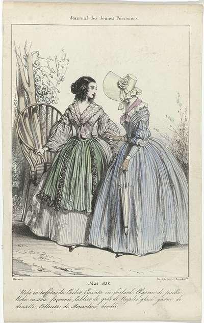 Journal des Jeunes Personnes, mai 1838 : Robe en taffetas (...)