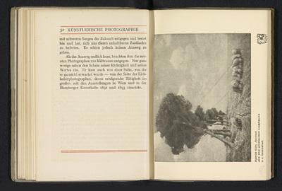 Fotoreproductie van een foto door Heinrich Kühn, voorstellend schapen in een wei; Aus der Römischen campagna