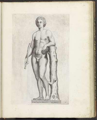 Standbeeld van een volgeling van Bacchus; Galleria Giustiniana del Marchese Vincenzo Giustiniani I