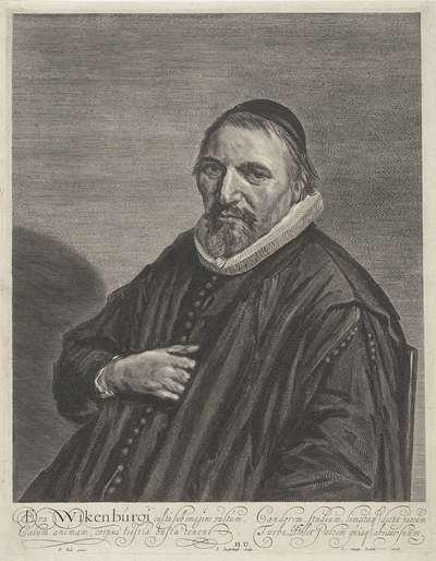 Portret van Theodorus Wikenburg