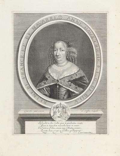 Portret van Anna van Oostenrijk