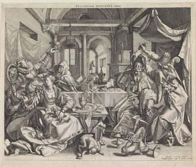 Allegorie op rijkdom, wellust en domheid; Stvltitiam Pativnvr opes