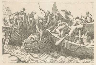 Vissers vangen een zeemonster