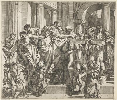 Presentatie van Christus in de tempel (linkerdeel)