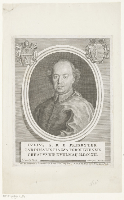 Image from object titled Portret van kardinaal Giulio Piazza