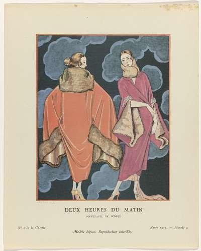 Gazette du Bon Ton. Art- Modes & Frivolités, 1923 - No. 2 : Deux heures du matin / Manteaux, de Worth