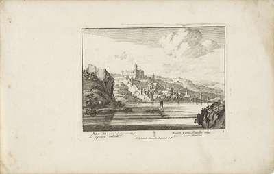 Bacharach aan de Rijn met kasteel Stahleck; Vermakelijke gezigten aan den Rhijnstroom; Admirandorum quadruplex spectaculum