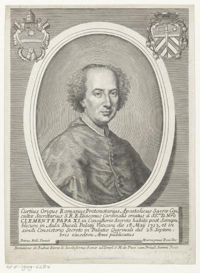 Portret van kardinaal Curzio Origo