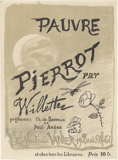 Affiche voor Pauvre Pierrot door Adolphe Léon Wilette