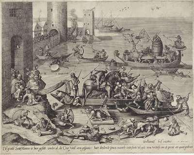 H. Martinus aan boord van een narrenschip