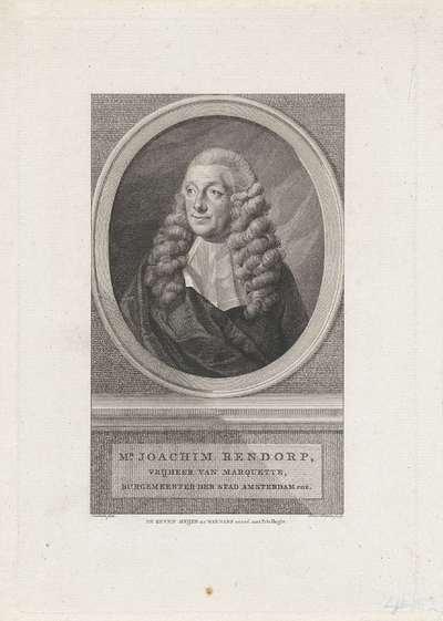 Portret van Joachim Rendorp