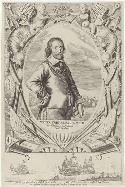 Portret van Witte Cornelisz. de With