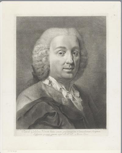 Portret van toneelschrijver Carlo Goldoni