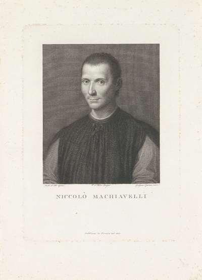Portret van Niccolò Machiavelli