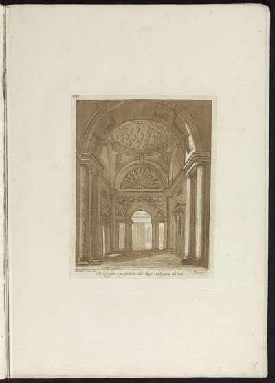 Interieur met een koepelgewelf; Raccolta di dissegni originali di Mauro Tesi