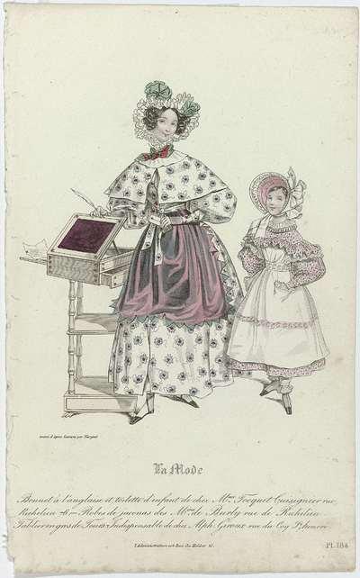 La Mode, 1831, Pl. 164, Bonnet à l'anglais (...)