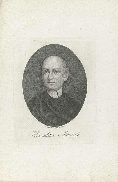 Portret van priester en dichter Benedetto Menzini